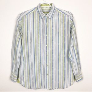 TOMMY BAHAMA striped casual button down shirt | M